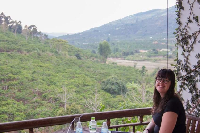 Juliets Villa Resort terrace and view