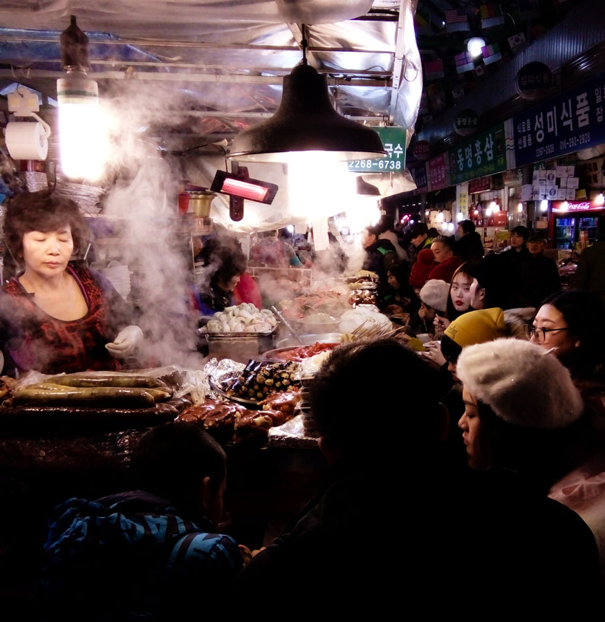 Gwangjang Market in Seoul, South Korea