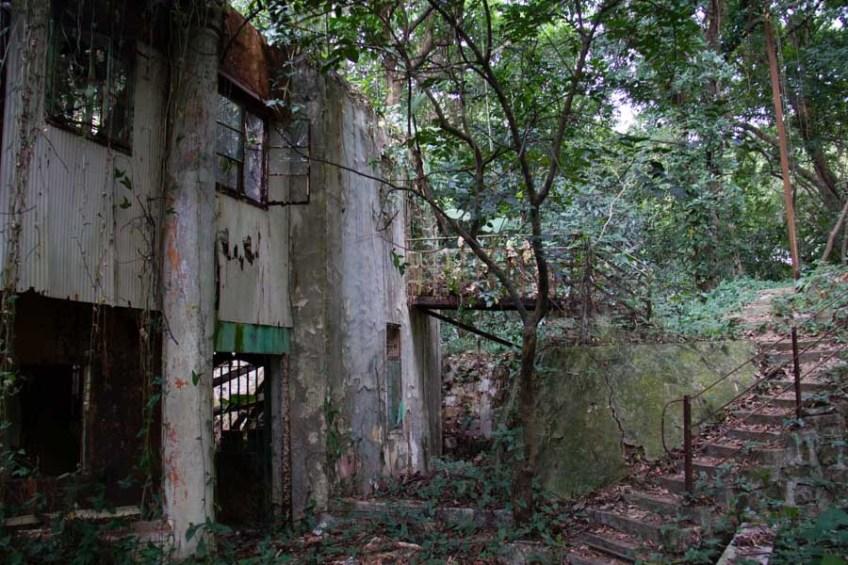 abandoned building in Sha Tin, Hong Kong