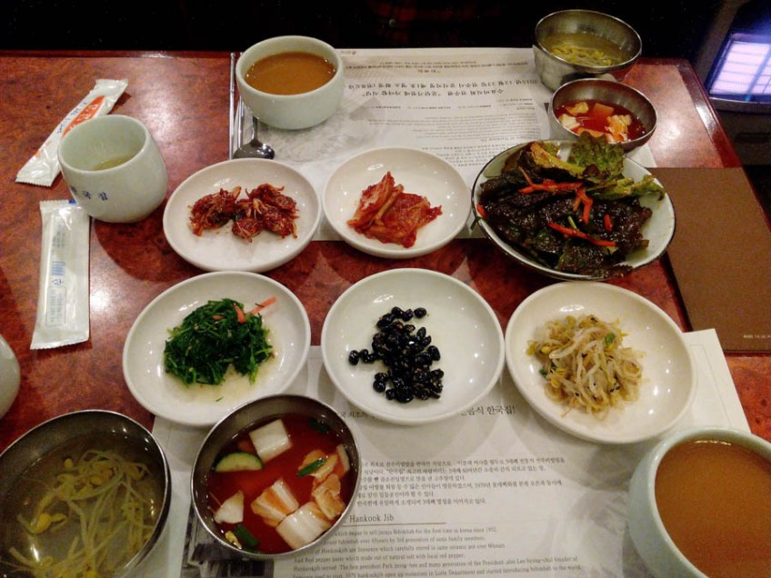 banchan in south korea