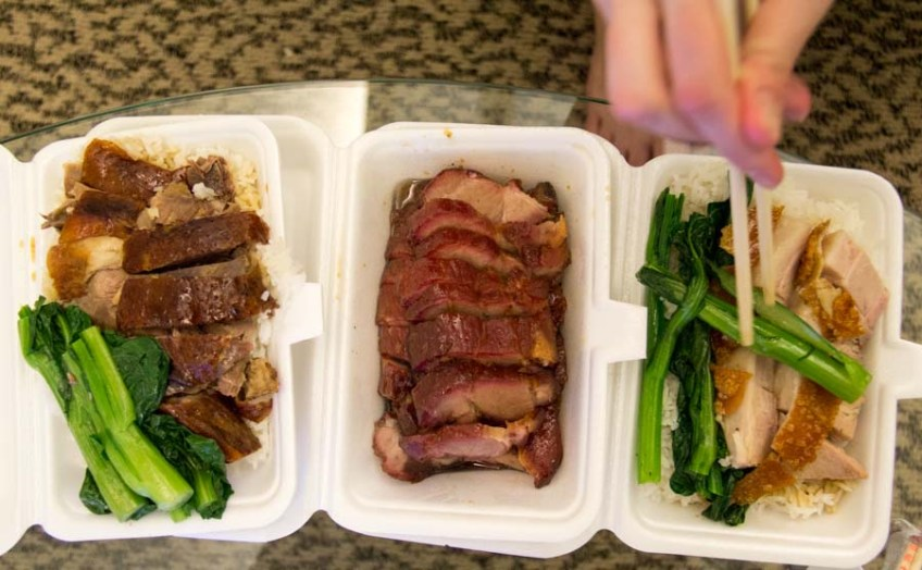 roasted meat takeout in Hong Kong