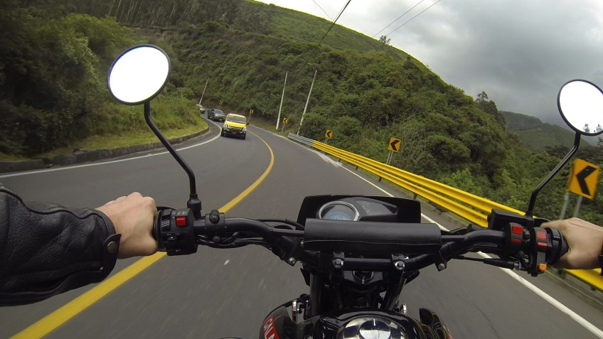 motorcycle Ecuador roads