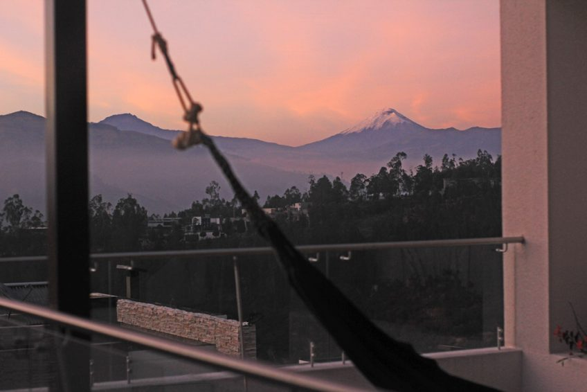 view from our terrace in Ecuador