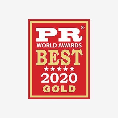 PR Wolrd Awards Best 2020 Gold - 2