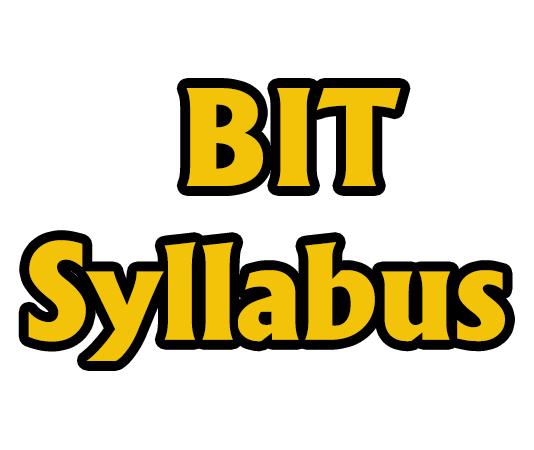 BIT Syllabus