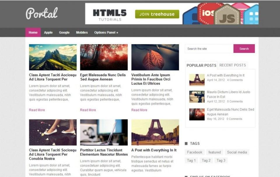 free wordpress themes portal