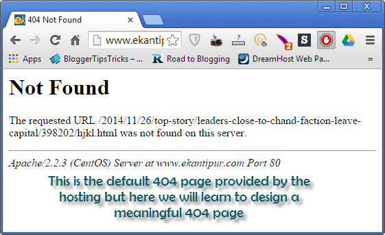 fix 404 error and design a SEO Optimized Custom 404 not found error page