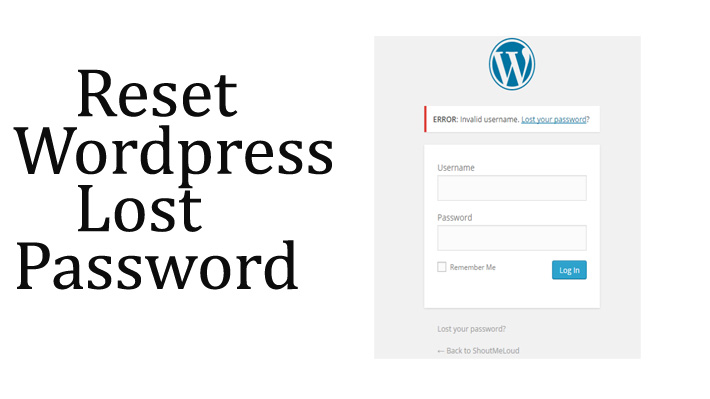 reset lost WordPress Password from phpMyAdmin
