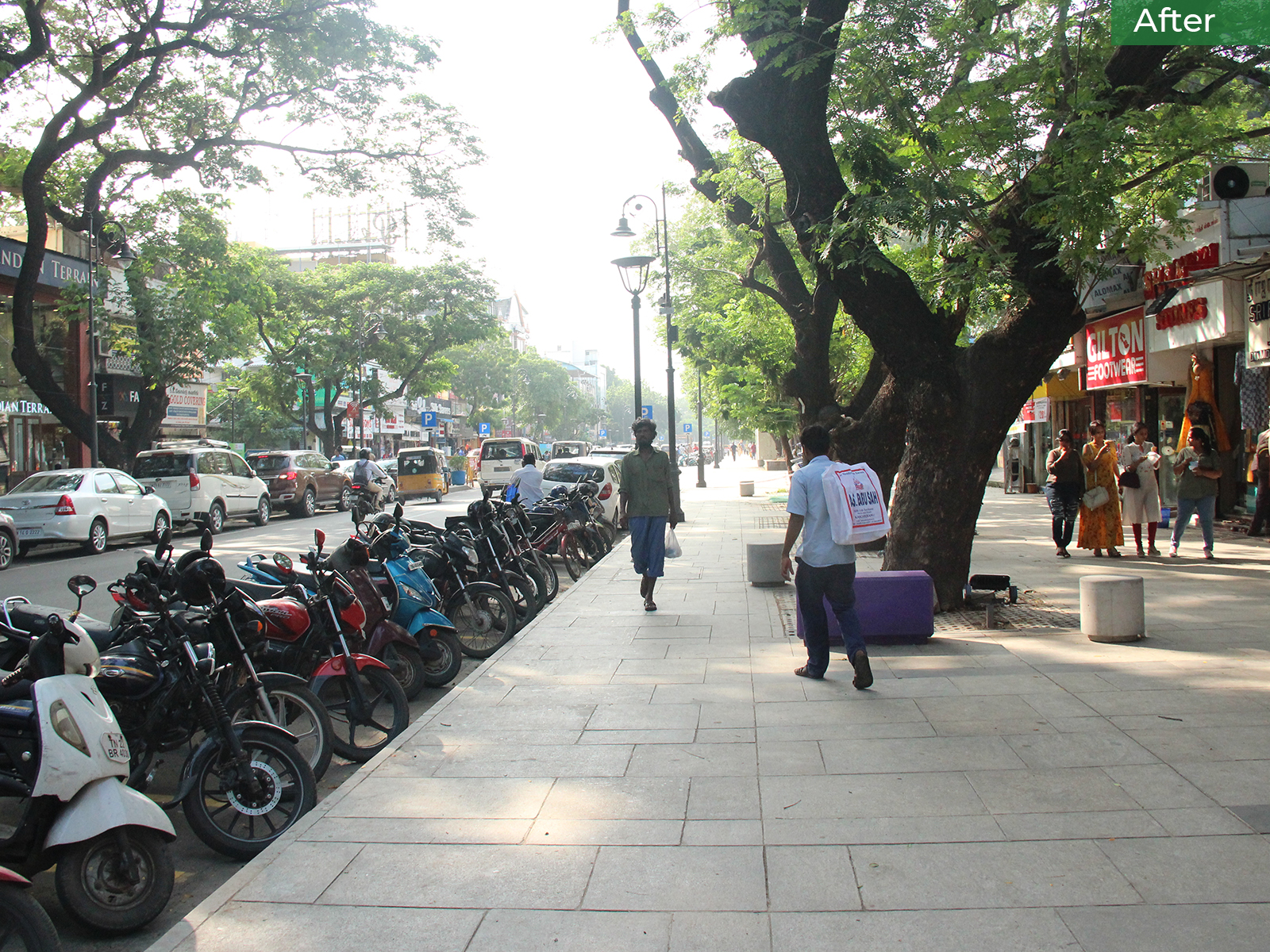 After-The Pondy Bazaar Pedestrian Plaza