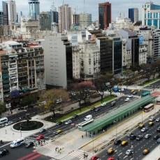 The 9 de Julio BRT Corridor in Buenos Aires, Argentina