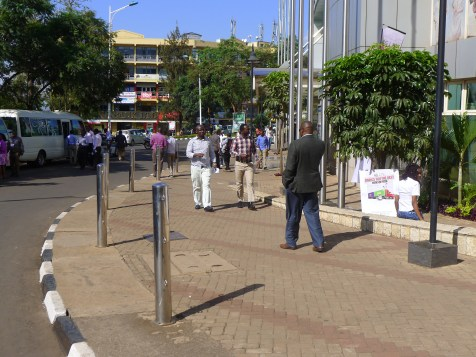 Kigali's wide sidewalks and safe pedestrian crossings make it a best practice in walking for African cities.