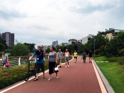 Canal Park Walkway, Yichang, China