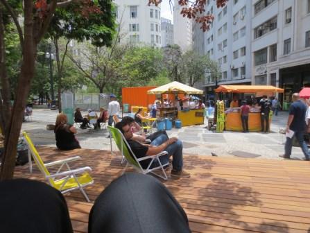 Public plaza near a low-income housing development in Sao Paulo, Brazil