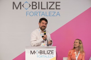 Claudio Orrego, former Governor of Santiago, Chile speaks during MOBILIZE plenary on mobilizing for the climate change emergency