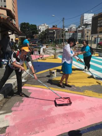 This tactical urbanism workshop was based on methods previously used in Fortaleza.
