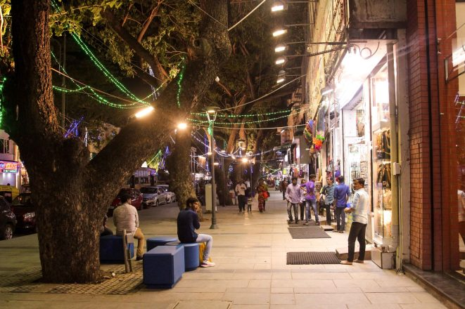 One of Chennai's busiest and car centric streets was transformed into the Pondy Bazaar Pedestrian Plaza.