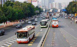 Along with wide highways, China has invested in many BRT systems.Guangzhou has also invested in strong BRT infrastructure.