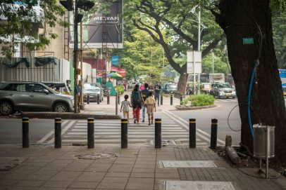 Pune redesigned streets to build footpaths that had not existed before.