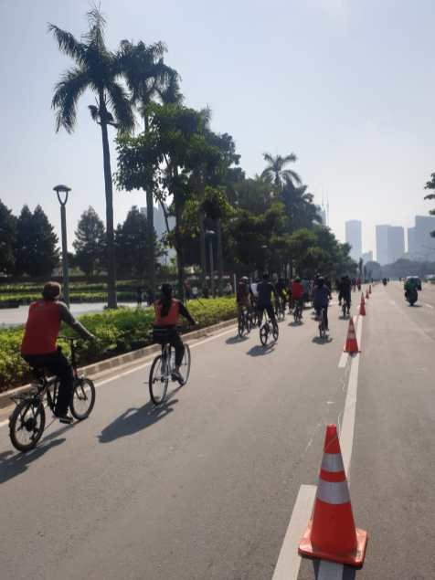 Jakarta is known for grinding traffic but cycling has shown a thirst for car alternatives.