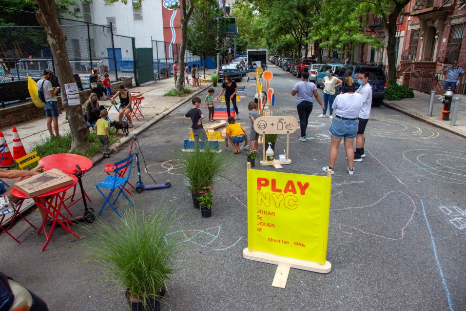 In New York City's East Harlem neighborhood, community groups activated an Open Street for families and residents to enjoy.