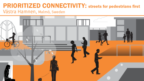 - Reducing the number of places where vehicles cross pedestrians' paths creates urban walking environments that are safer and more comfortable.