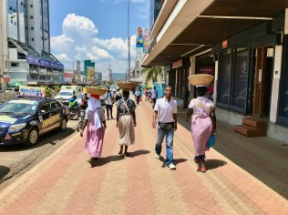 Wide and spacious walkways along the Kisumu Triangle have improved walkability