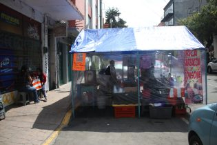 Street vendors can sell from mobile vehicles or more stationery locations and stands.