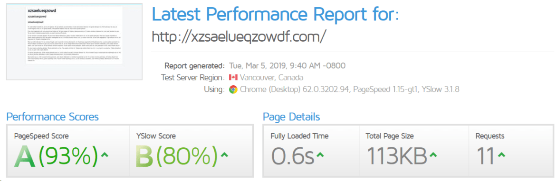 joomla website speed test