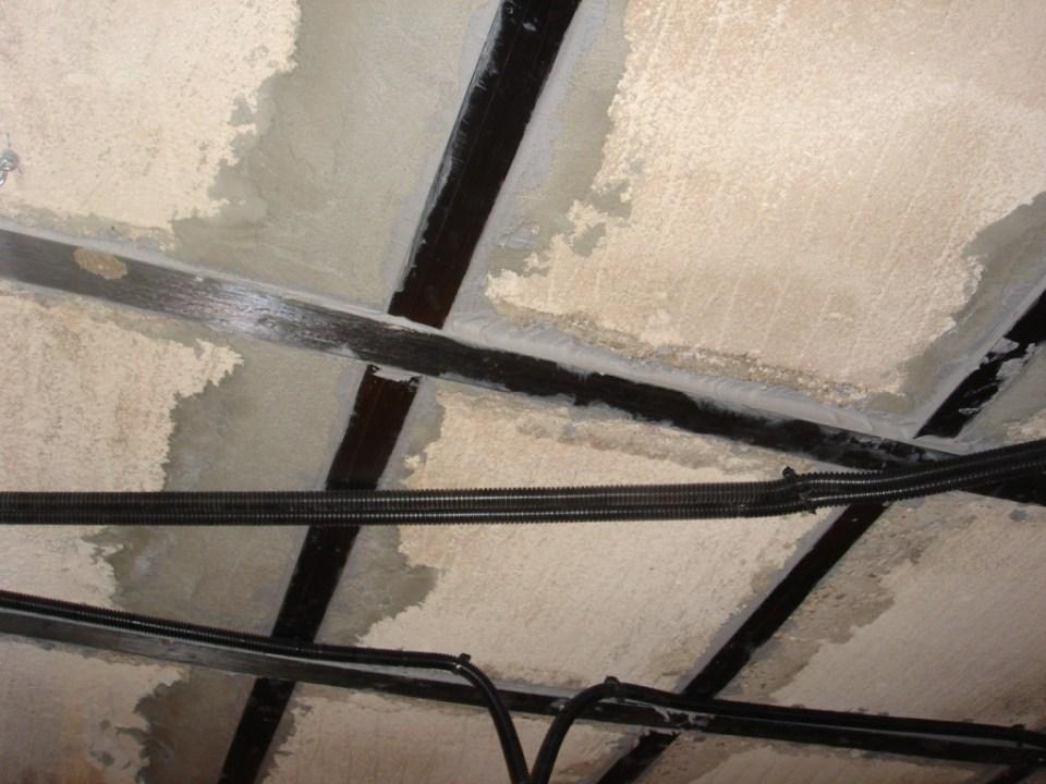 Refuerzo de estructura con fibre de carbono