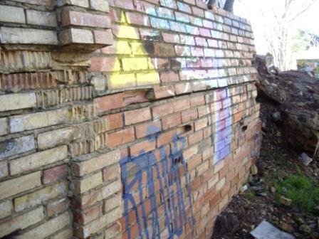 Lesion muro contencion