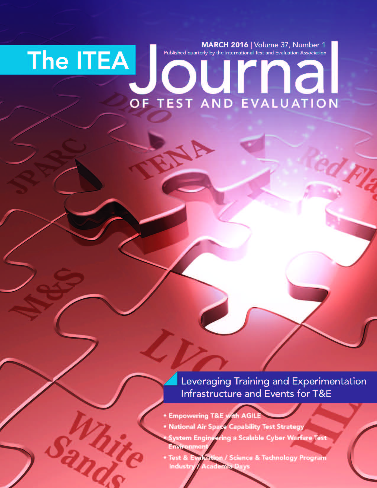 ITEA Journal March 2016 COVER
