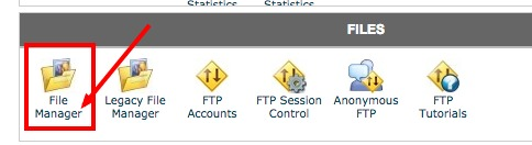 access htaccess file from cpanel