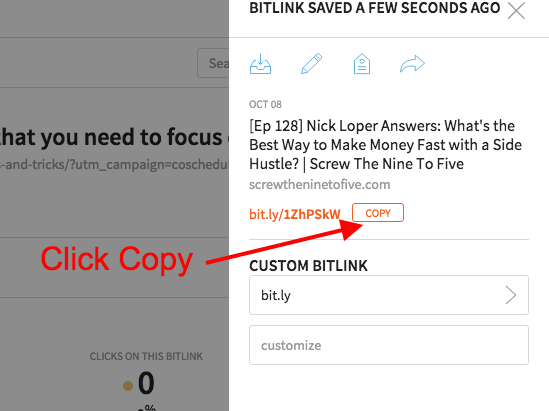 How to Get a Bitly Link