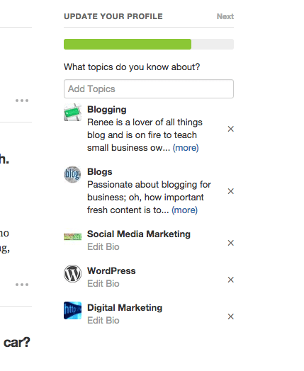 Quora save a topic