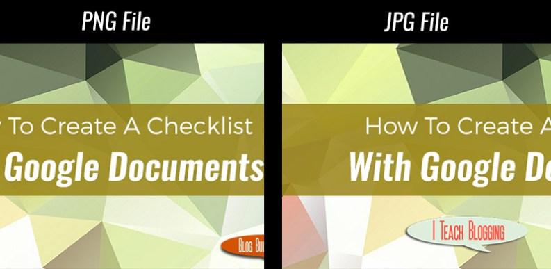 Compress images jpg vs png
