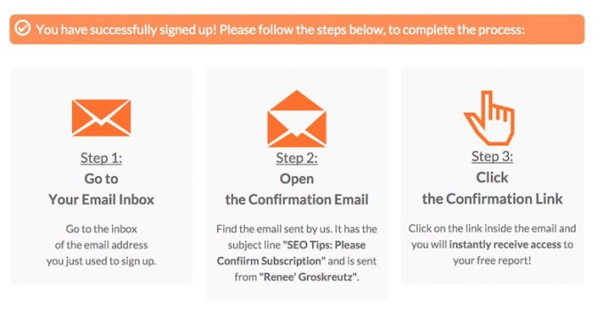 How to create an email optin thank you page