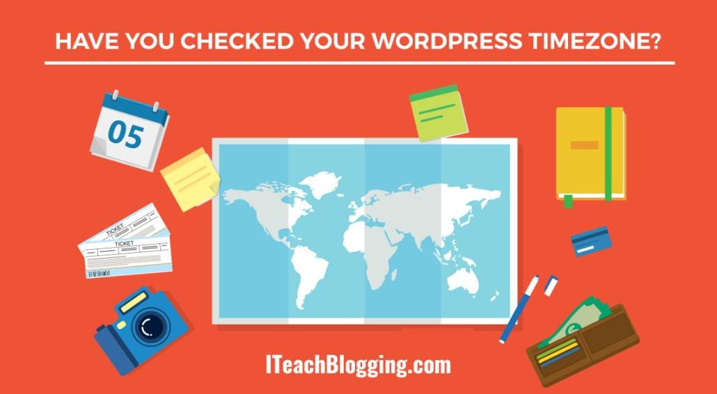 How to change blog timezone in WordPress