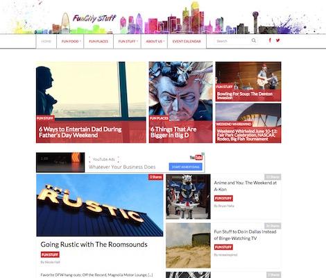 A bit about magazine style blog design