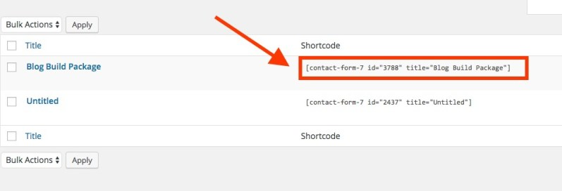 How to add contact form to page