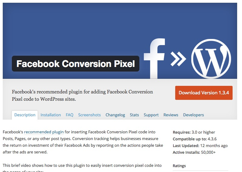 Wordpress plugin facebook pixel