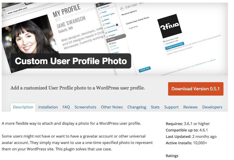 Wordpress plugin user profile-picture