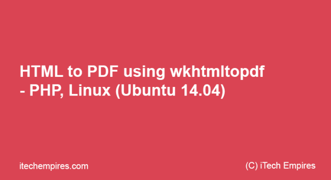 HTML to PDF using wkhtmltopdf