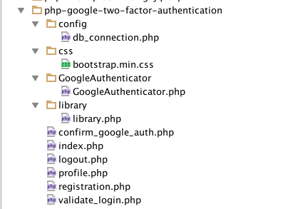 Google Auth tutorial folder structure