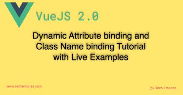 VueJS 2.0 dynamic Attribute binding Class Name binding