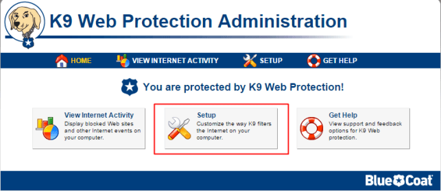 block website using k9 web protection