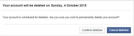 delete facebook 2015