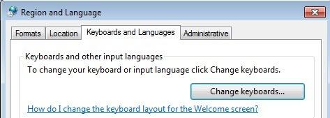 Change Keyboard Language windows 7