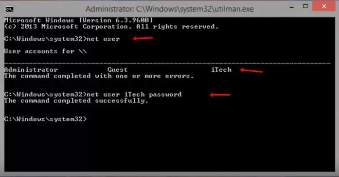 reset windows 8 password cmd