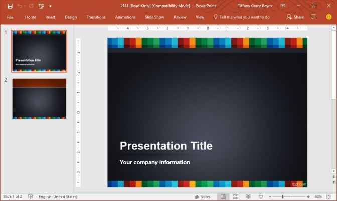 color-strip-powerpoint-template