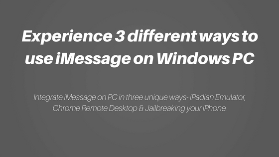 Experience 3 different ways to use iMessage on Windows PC